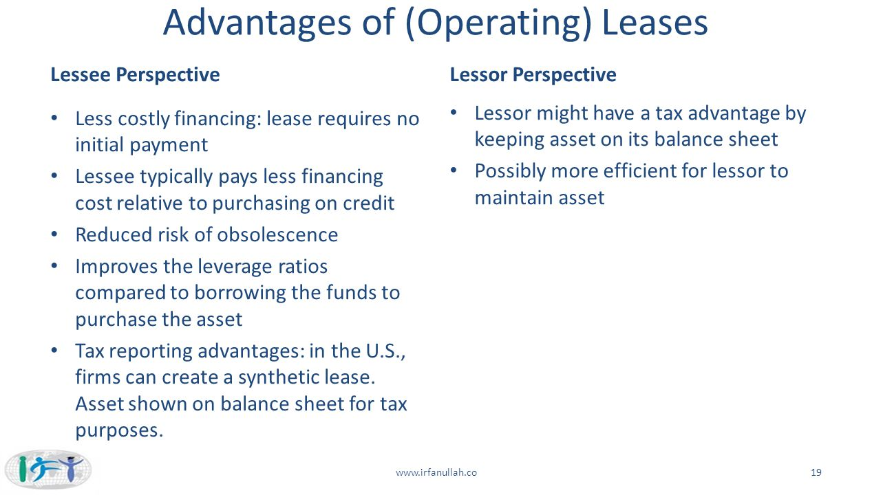 Advantages of (Operating) Leases