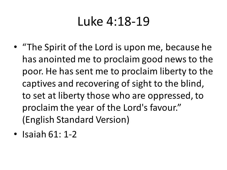 Luke 4:18-19