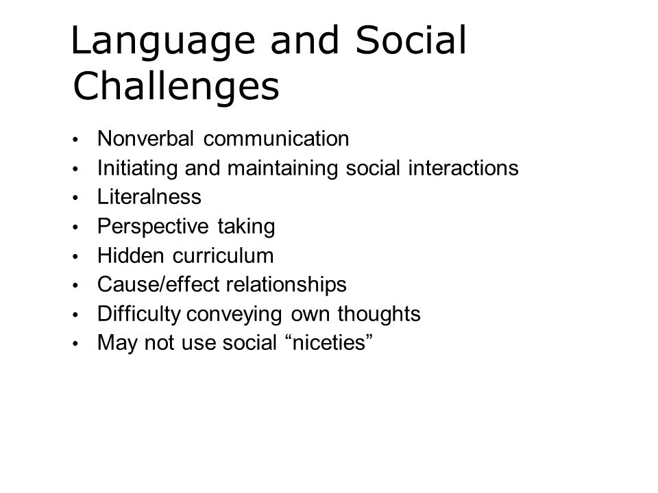 Language and Social Challenges