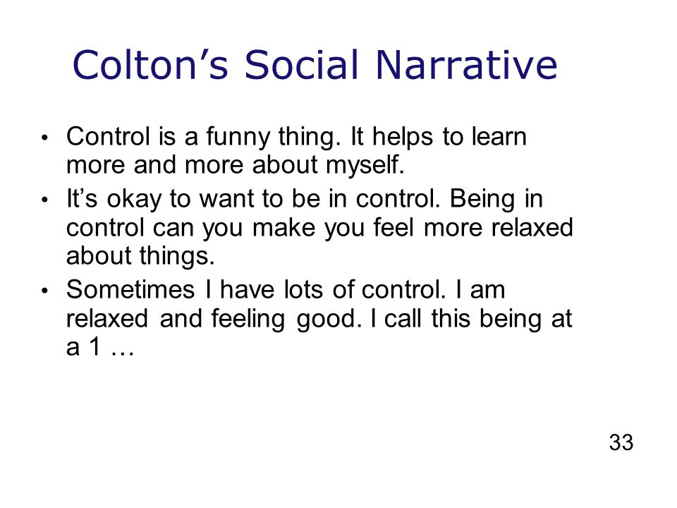 Colton's Social Narrative