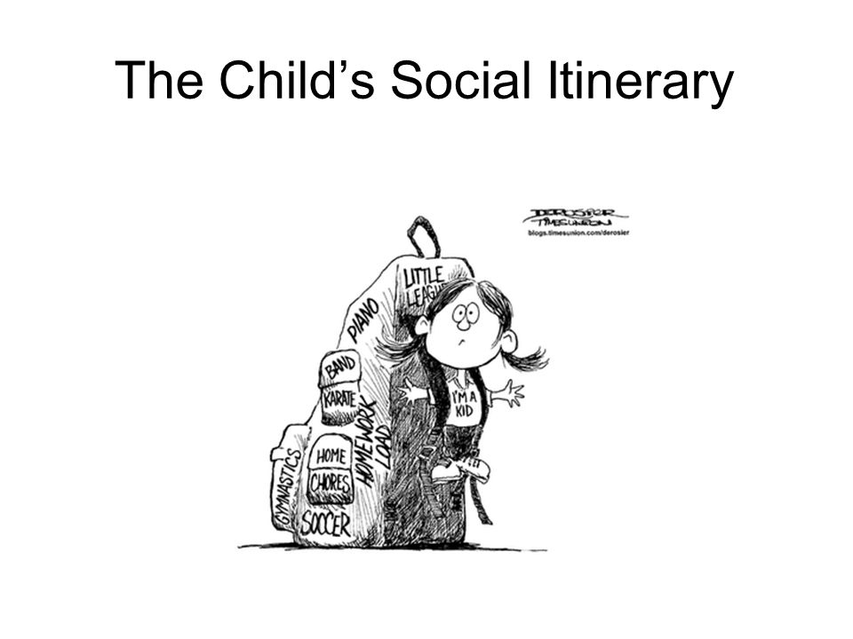 The Child's Social Itinerary