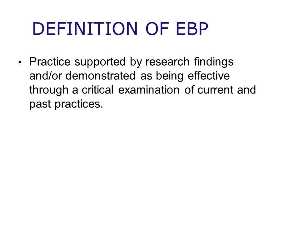 DEFINITION OF EBP