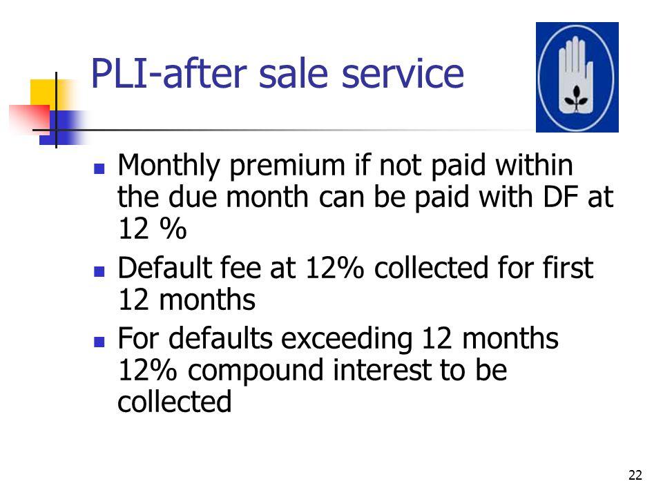 PLI-after sale service