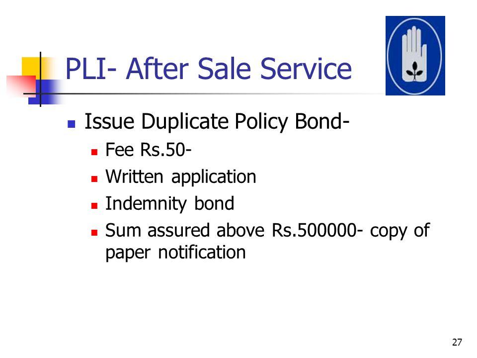 PLI- After Sale Service