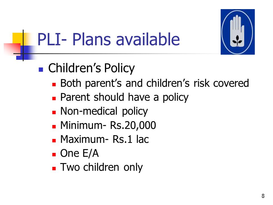 PLI- Plans available Children's Policy