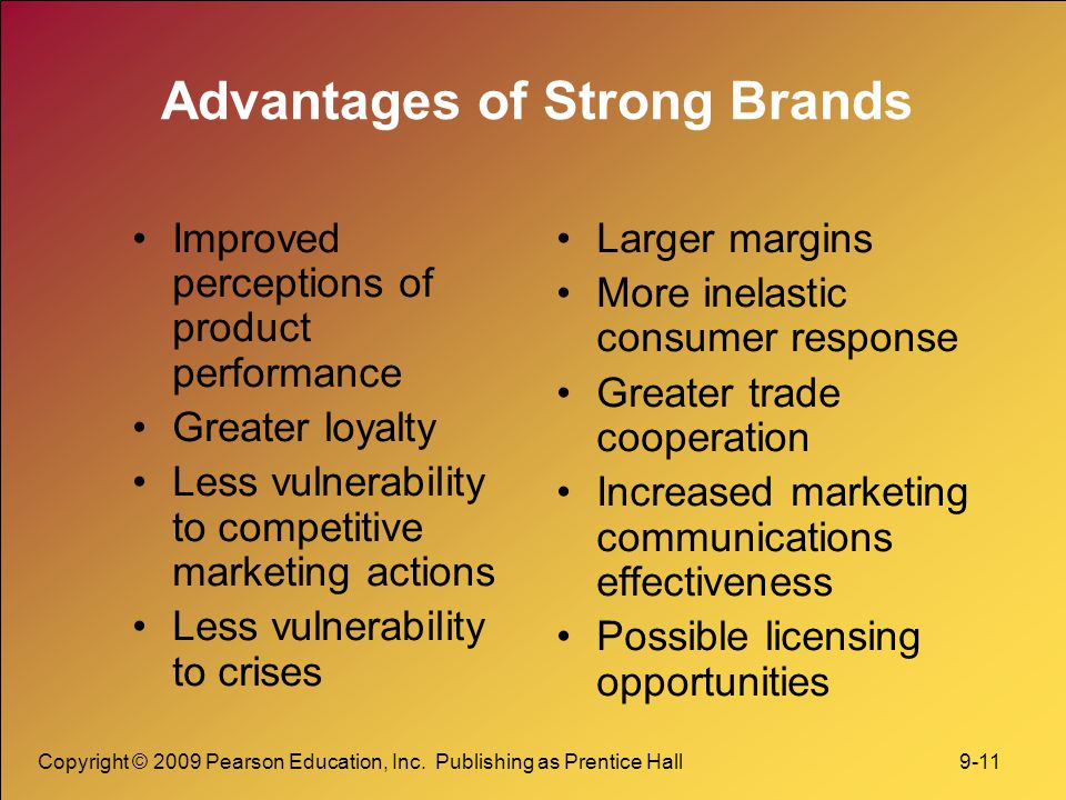 Advantages of Strong Brands
