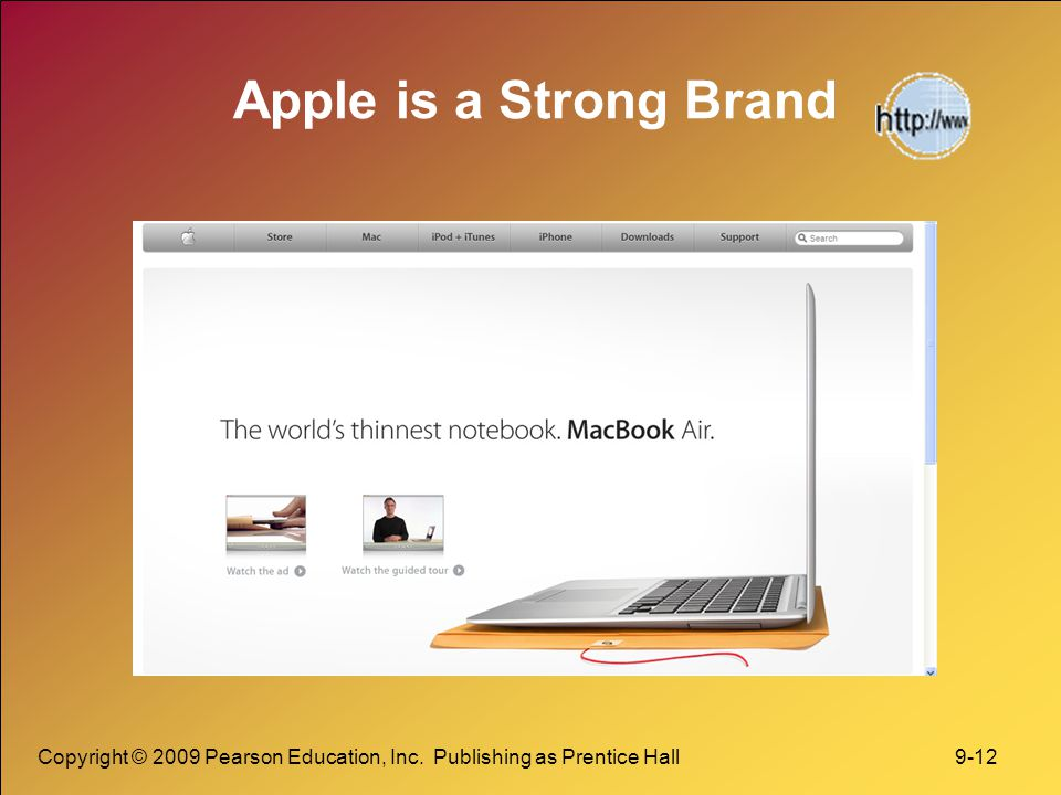 Apple is a Strong Brand Copyright © 2009 Pearson Education, Inc.