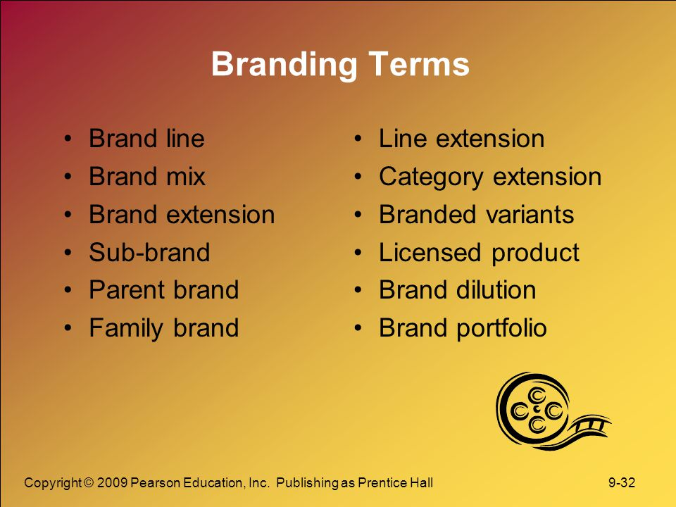 Branding Terms Brand line Brand mix Brand extension Sub-brand