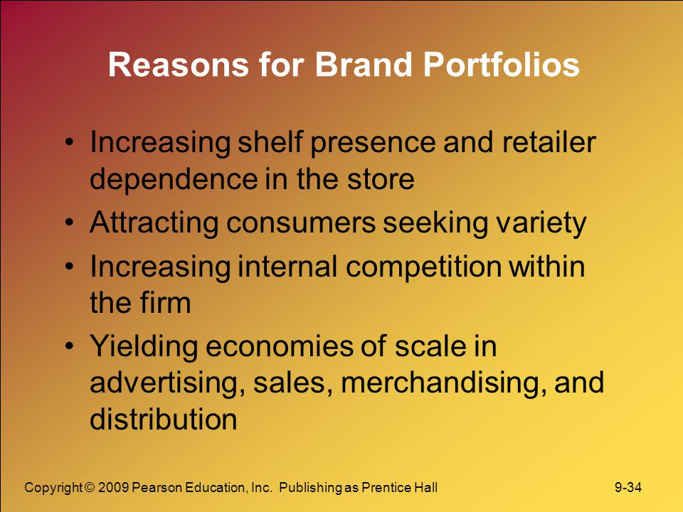 Reasons for Brand Portfolios