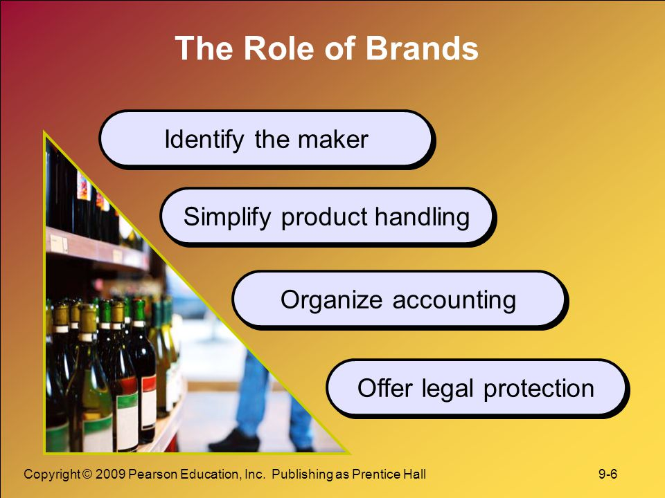 The Role of Brands Identify the maker Simplify product handling