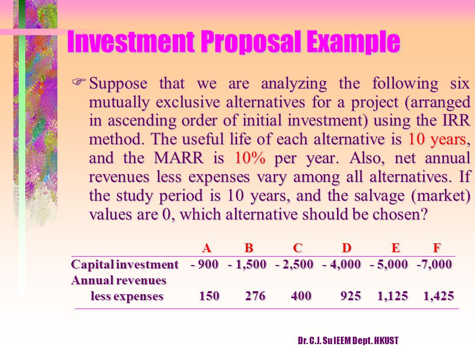 Investment Proposal Example