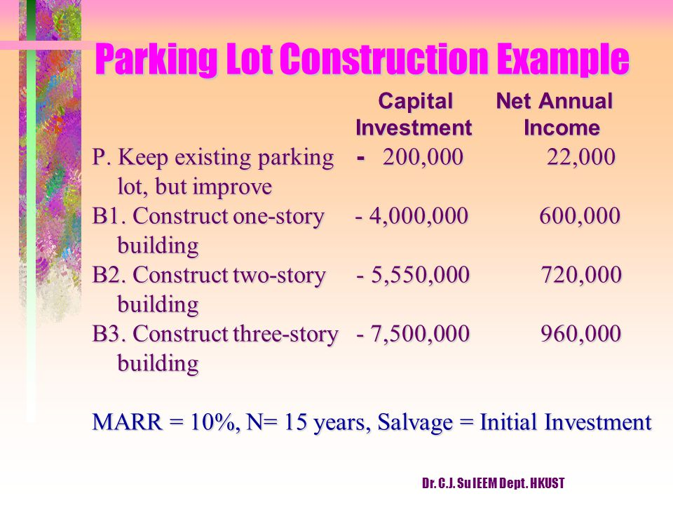 Parking Lot Construction Example