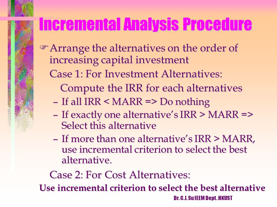 Incremental Analysis Procedure