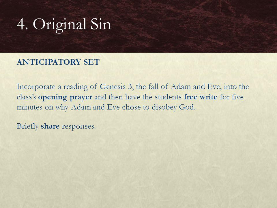 4. Original Sin