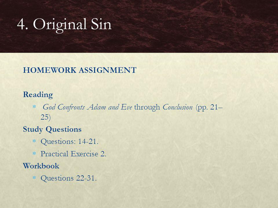 4. Original Sin HOMEWORK ASSIGNMENT Reading
