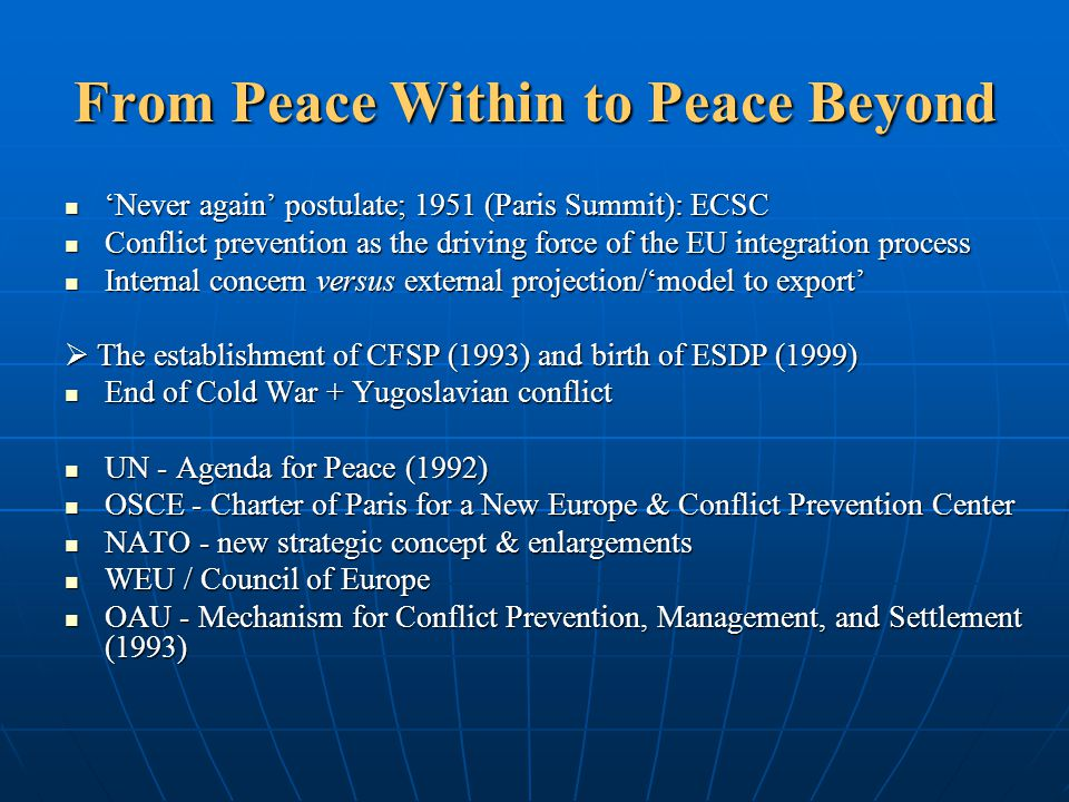 From Peace Within to Peace Beyond