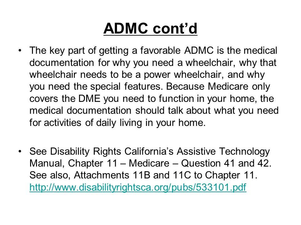 ADMC cont'd