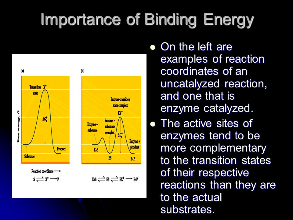 Importance of Binding Energy