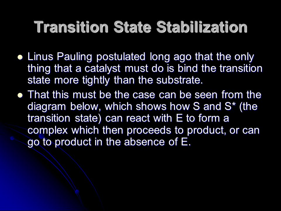 Transition State Stabilization
