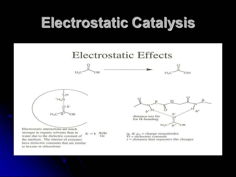 Electrostatic Catalysis