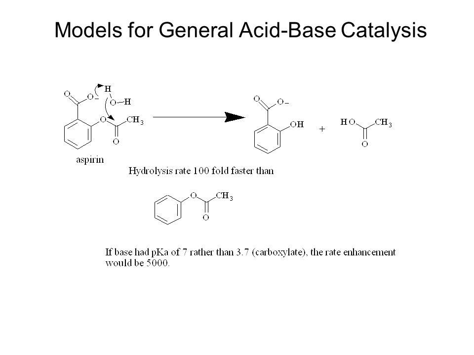 Models for General Acid-Base Catalysis