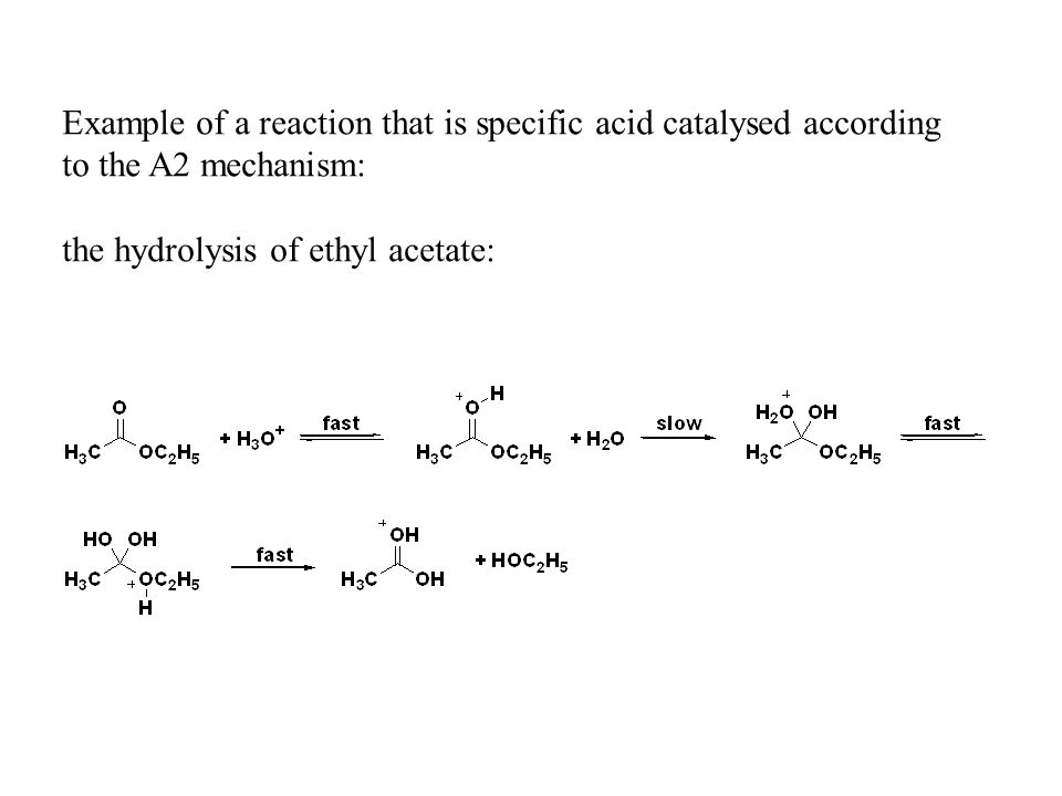 Example of a reaction that is specific acid catalysed according