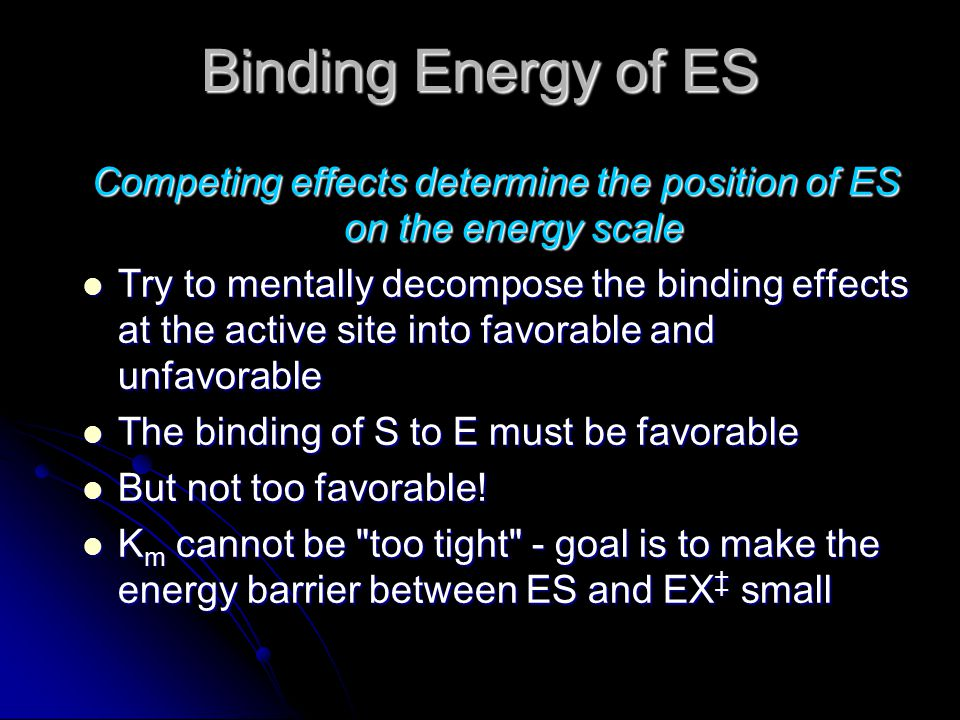 Competing effects determine the position of ES on the energy scale