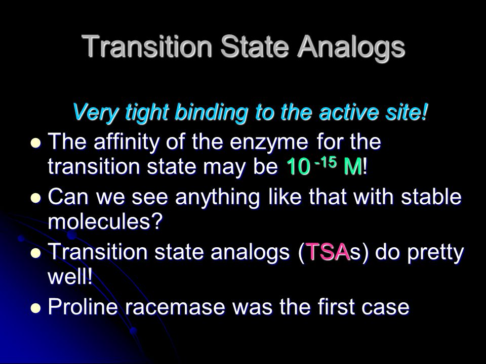 Transition State Analogs