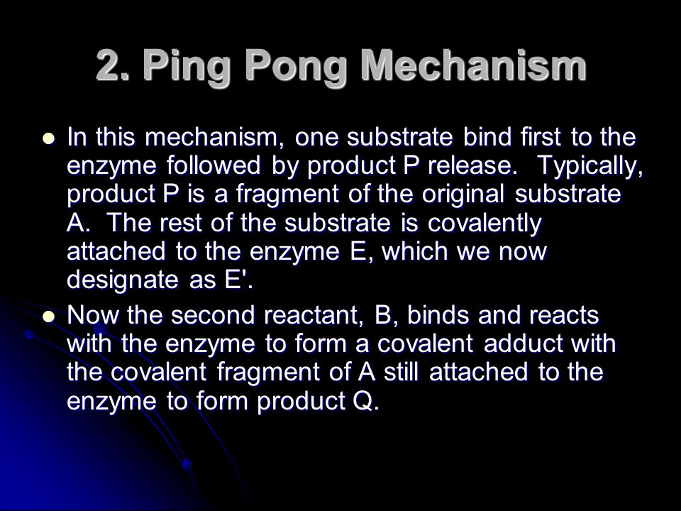 2. Ping Pong Mechanism