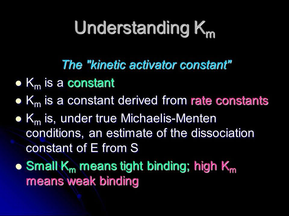 The kinetic activator constant