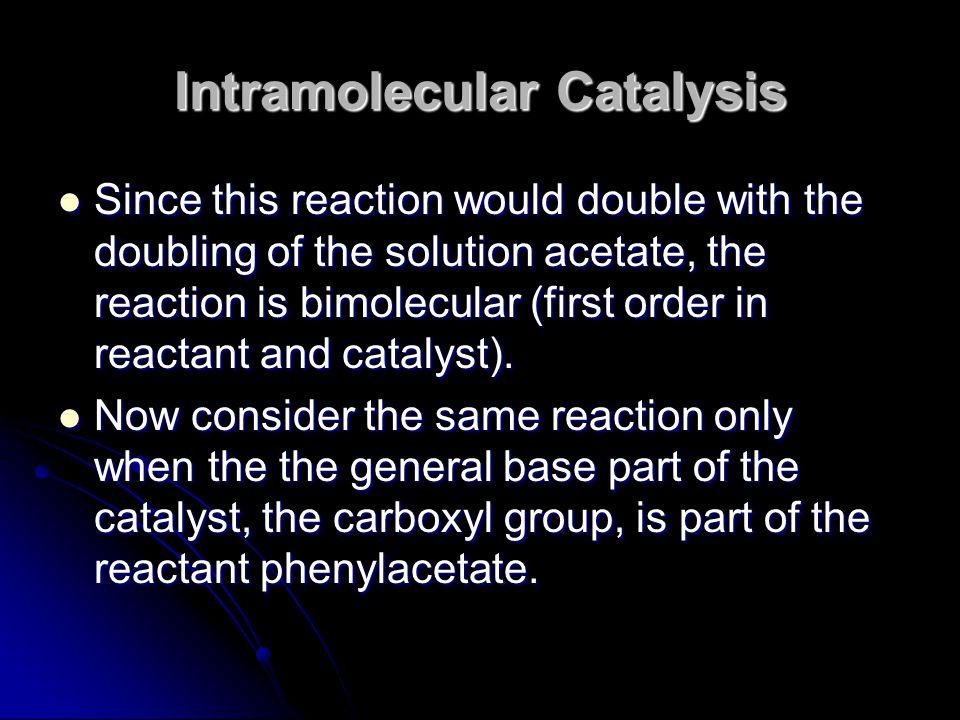 Intramolecular Catalysis