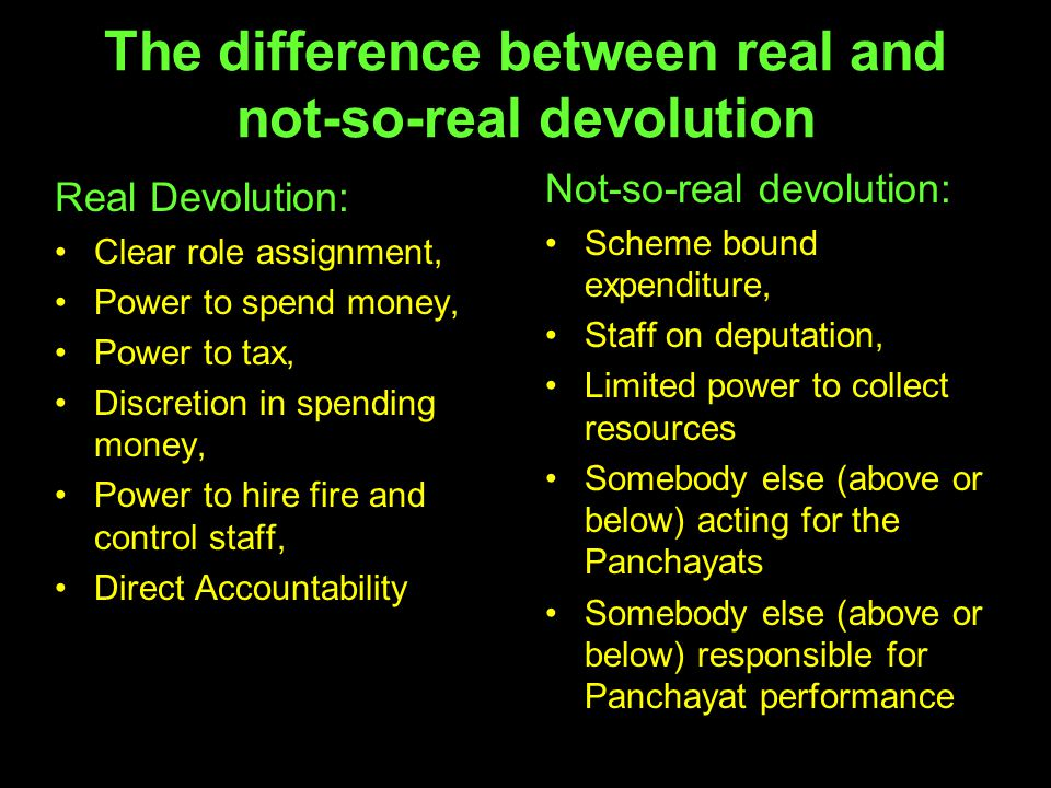 The difference between real and not-so-real devolution