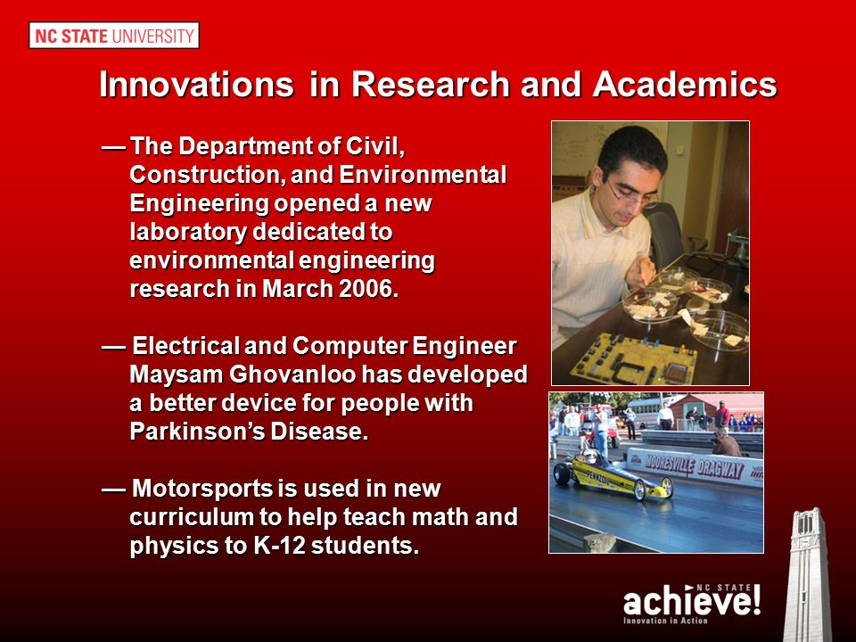 Innovations in Research and Academics