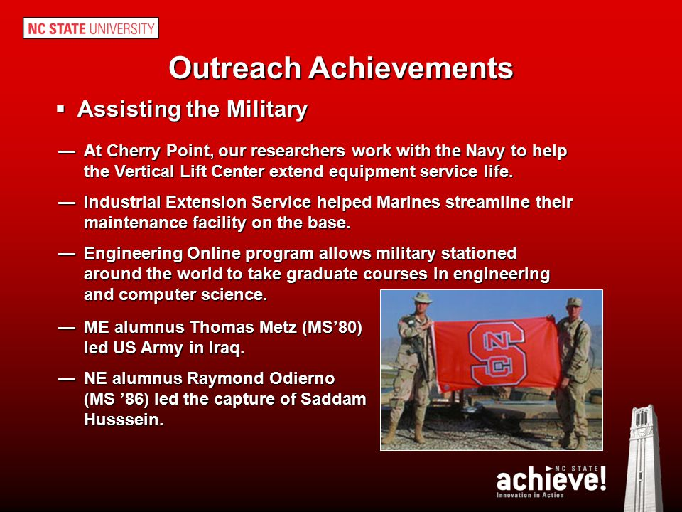 Outreach Achievements