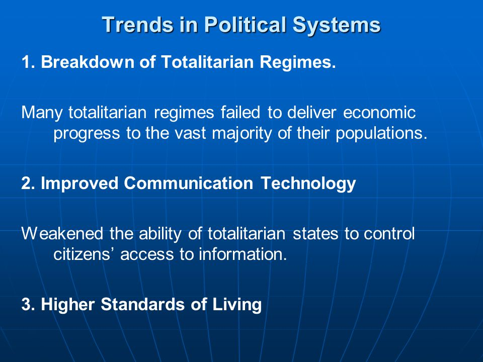 Trends in Political Systems