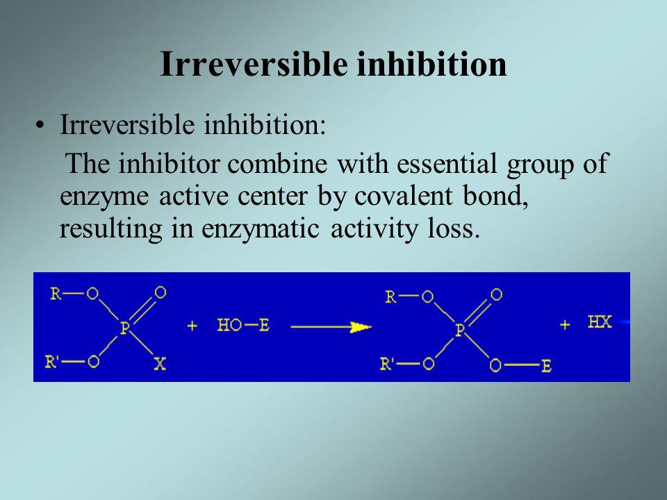 Irreversible inhibition
