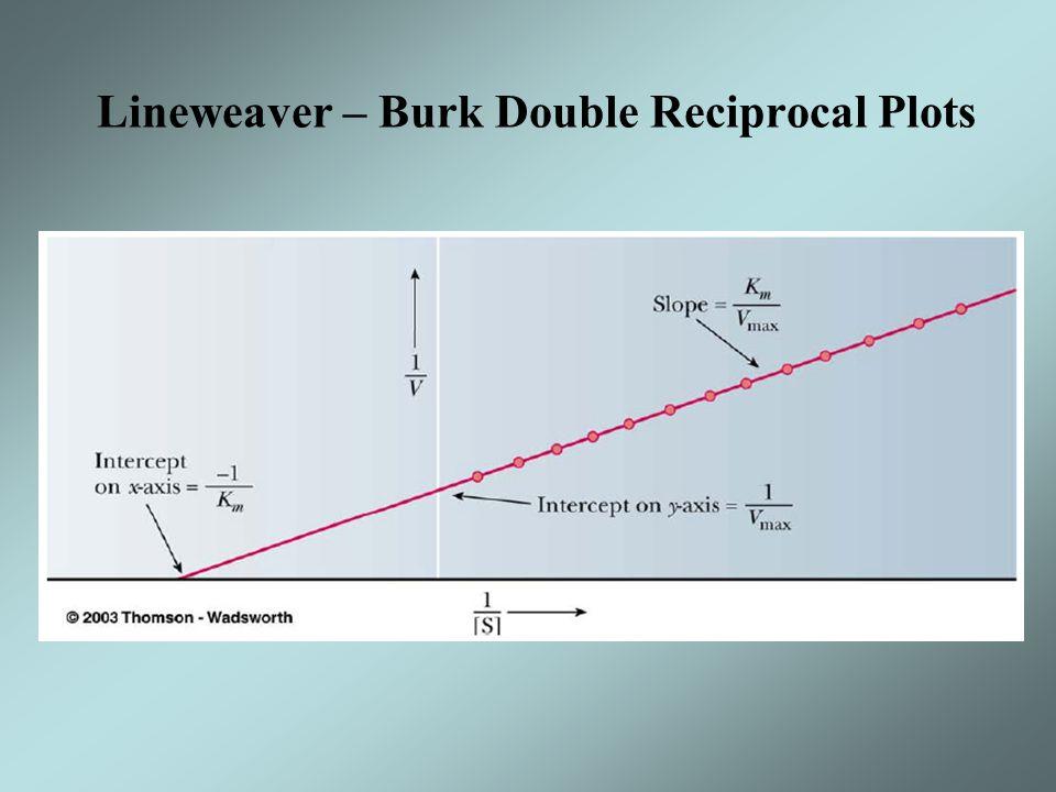 Lineweaver – Burk Double Reciprocal Plots