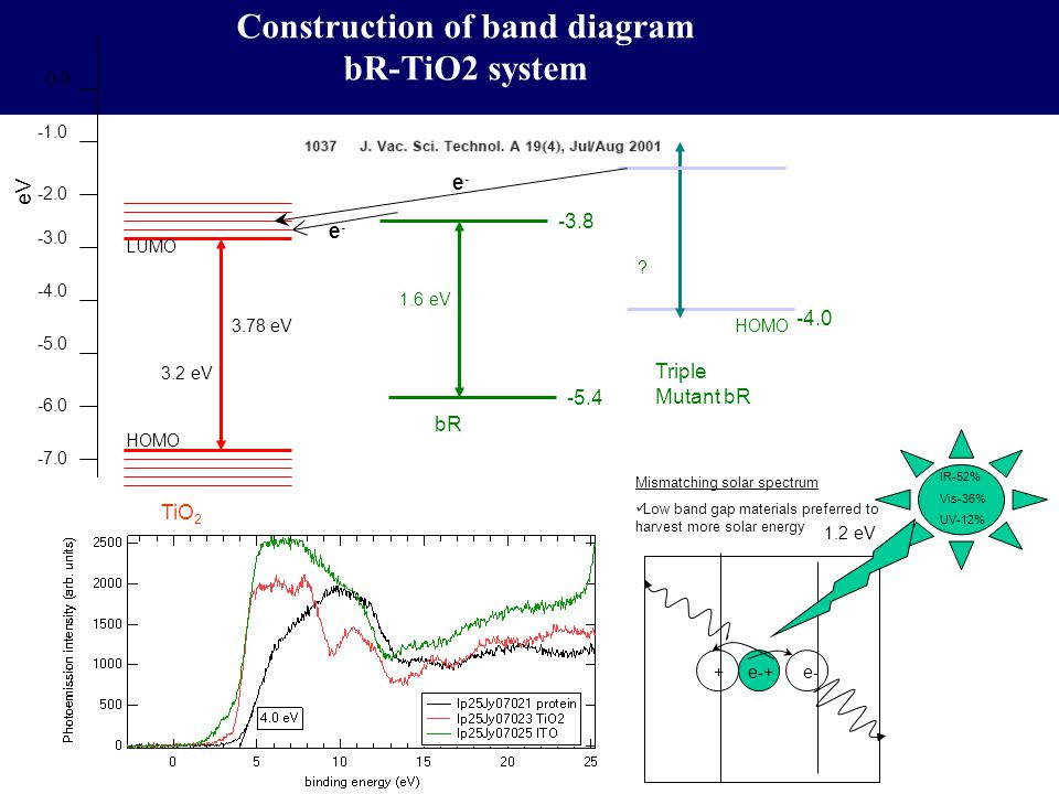 Construction of band diagram bR-TiO2 system