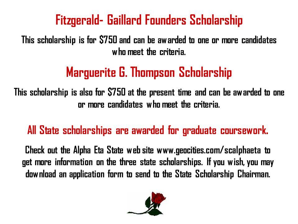 Fitzgerald- Gaillard Founders Scholarship