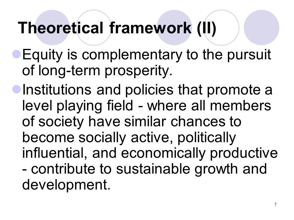 Theoretical framework (II)