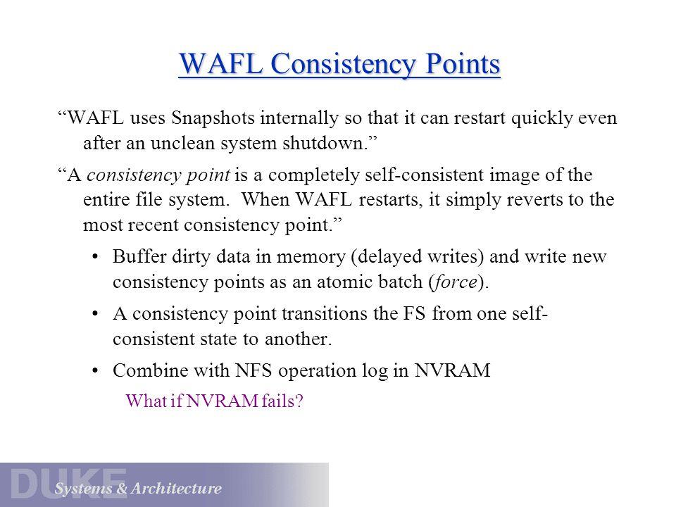 WAFL Consistency Points