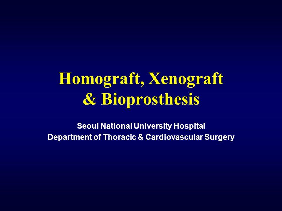 Homograft, Xenograft & Bioprosthesis