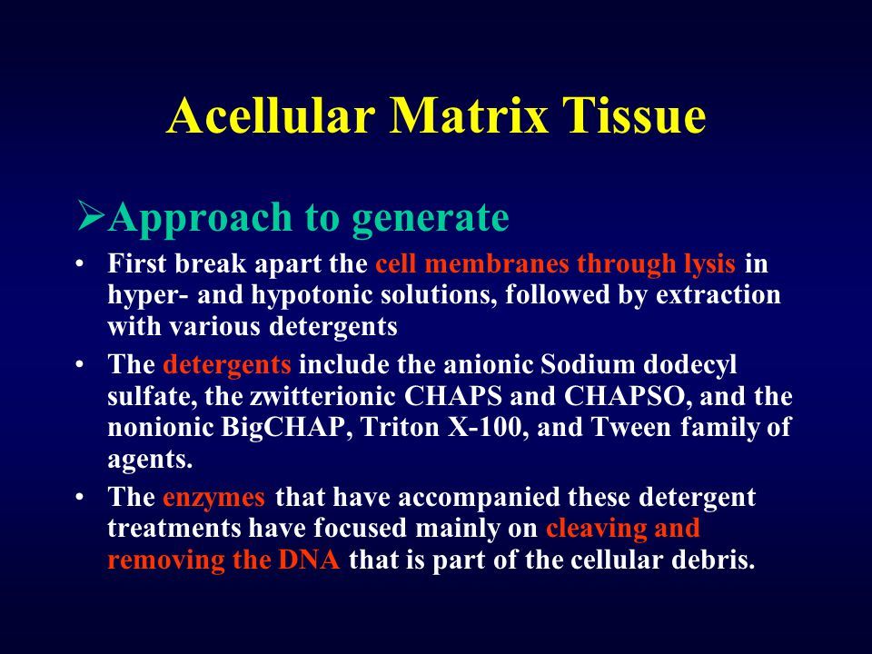 Acellular Matrix Tissue