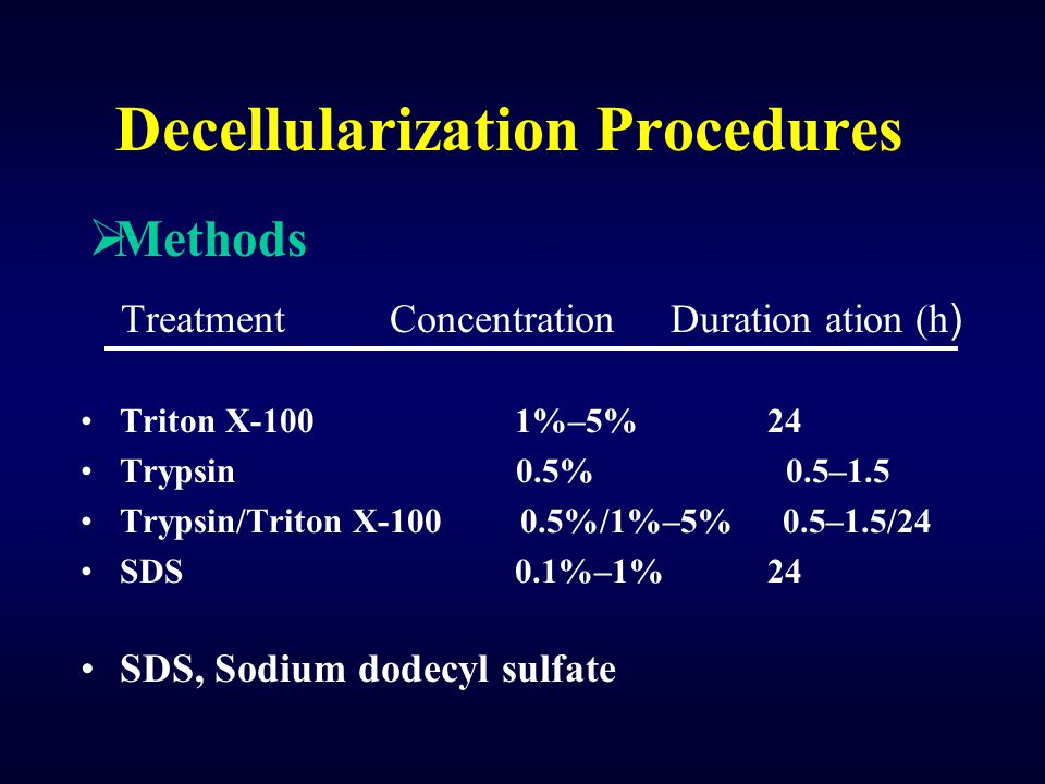Decellularization Procedures