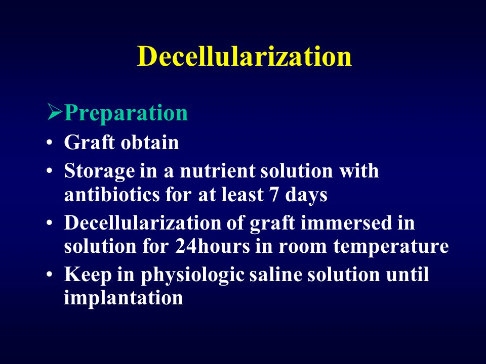 Decellularization Preparation Graft obtain