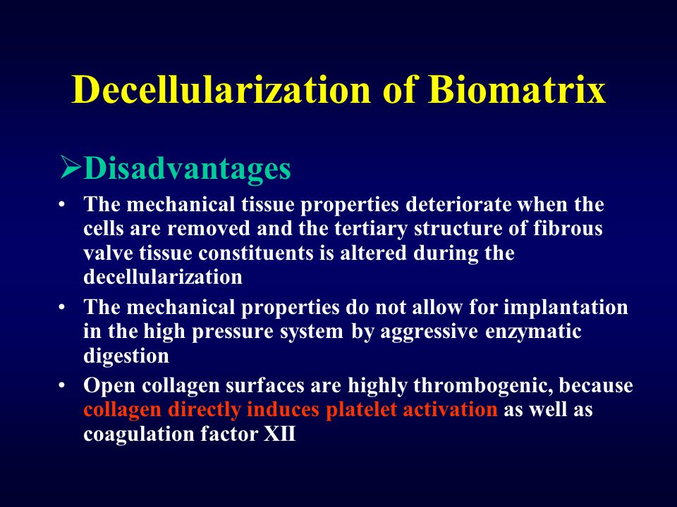 Decellularization of Biomatrix