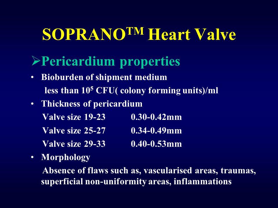 SOPRANOTM Heart Valve Pericardium properties