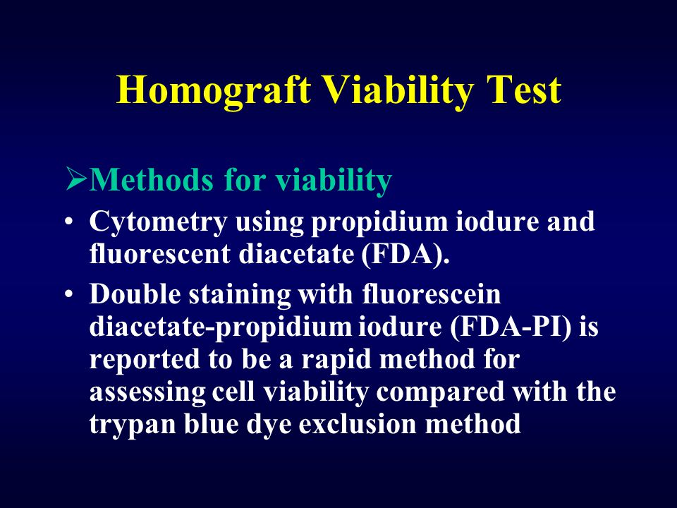 Homograft Viability Test