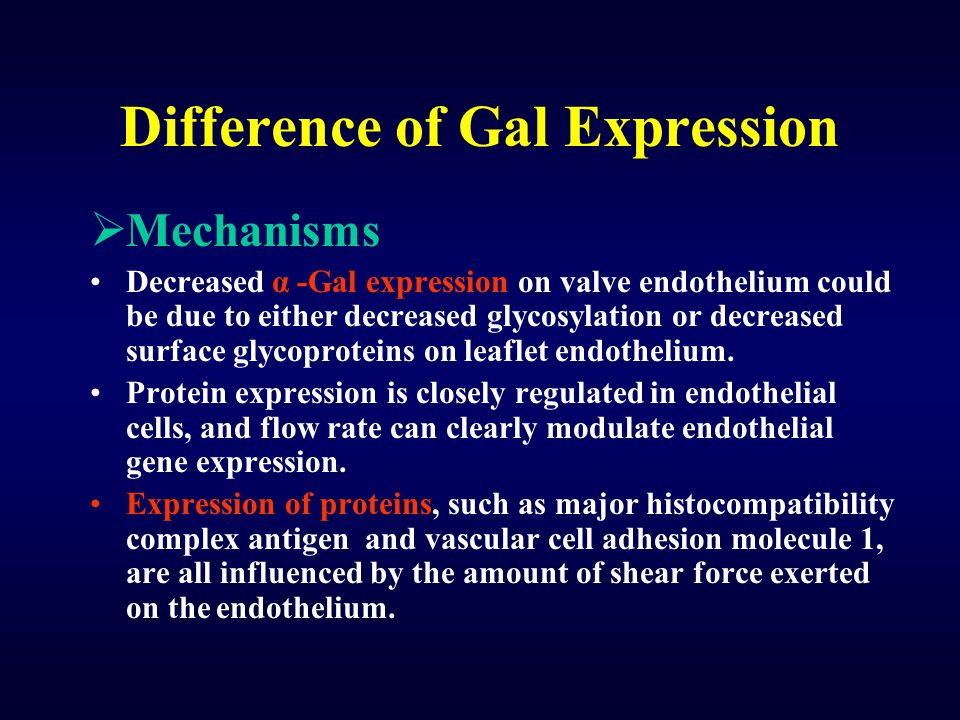 Difference of Gal Expression