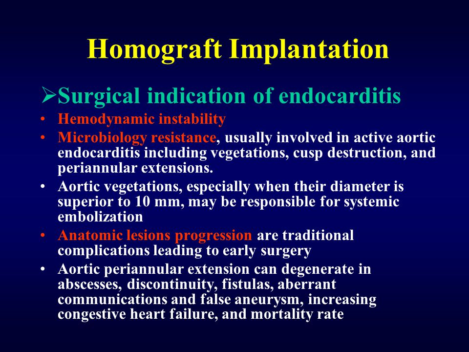 Homograft Implantation
